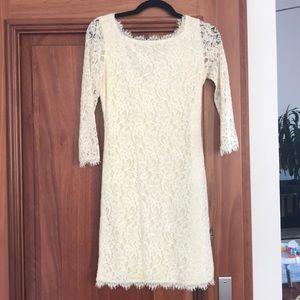 Diane Von Furstenberg Off White/ Cream Dress